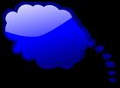 Free Stock Photo: Illustration of a blue cartoon speech bubble