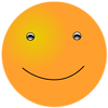 Free Stock Photo: Illustration of an orange smiley face