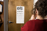 Free Stock Photo: A woman being given an eye exam