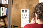 Free Stock Photo: A woman taking an eye exam