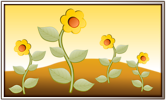 Free Stock Photo: Illustration of yellow flowers