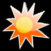 Free Stock Photo: Illustration of a sun