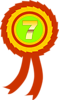Free Stock Photo: Illustration of a seventh place ribbon