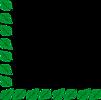 Free Stock Photo: Illustration of a lower left frame corner of green leaves