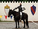 Free Stock Photo: A knight on a horse in the jousting arena at the 2009 Georgia Renassance Festival