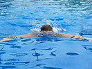 Free Stock Photo: A man swimming in a pool