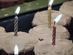 Free Stock Photo: Birthday Cupcakes
