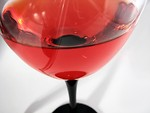 Free Stock Photo: Closeup of wine glass