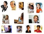 Free Stock Photo: Various call center women
