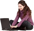 Free Stock Photo: Girl working on a laptop