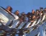 Free Stock Photo: People on a roller coaster
