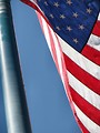 Free Stock Photo: US flag closeup