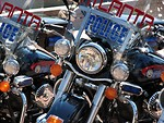 Free Stock Photo: Police motorcycles