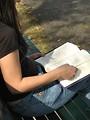 Free Stock Photo: Teenage girl reading a book