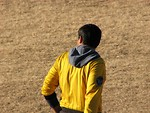 Free Stock Photo: Back of a soccer referee