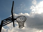 Free Stock Photo: Outdoor basketball hoop