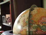 Free Stock Photo: Closeup of a map on a globe