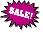 Free Stock Photo: Purple sale stickers