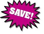 Free Stock Photo: Purple Save stickers