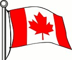Free Stock Photo: Canadian flag illustration