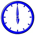 Free Stock Photo: Blue clock illustration