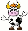 Free Stock Photo: Cartoon cow illustration
