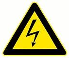 Free Stock Photo: Electrical warning illustration