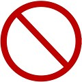 Free Stock Photo: Blank forbidden illustration