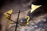 Free Stock Photo: Weather vane with question mark