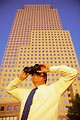 Free Stock Photo: Business man with binoculars