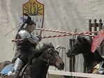 Free Stock Photo: Two knights jousting