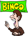 Free Stock Photo: Illustration of a man on bingo night