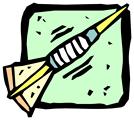 Free Stock Photo: Illustration of a dart