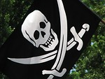 Free Stock Photo: Skull and crossbones pirate flag