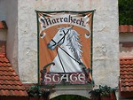 Free Stock Photo: Medieval sign with a horse