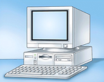 Free Stock Photo: Illustration of a desktop computer