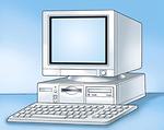 Free Stock Photo: Illustration of a desktop computer