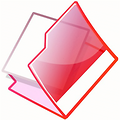 Free Stock Photo: Illustration of an open red folder