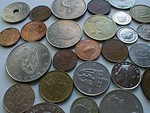 Free Stock Photo: Closeup of European coins