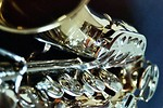 Free Stock Photo: Closeup of a shiny saxophone