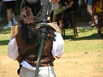 Free Stock Photo: Back of medieval swashbuckler
