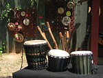 Free Stock Photo: Hand made drums for sale