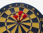Free Stock Photo: Dartboard with three darts in bullseye