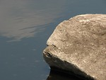 Free Stock Photo: Granite rock in a small pond