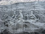 Free Stock Photo: Confederate carving at Stone Mountain Park