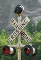 Free Stock Photo: Closeup of a railroad crossing sign