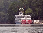 Free Stock Photo: River boat docked in a lake at Stone Mountain