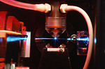 Free Stock Photo: A blue laser in some research equipment