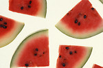 Free Stock Photo: Watermelon slices isolated on a white background