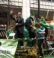 Free Stock Photo: A Bono lookalike on a float in the 2010 Atlanta Saint Patrick's Day Parade